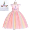 Picture of Girls Princess Unicorn Rainbow Tutu Dress-Pink