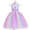 Picture of Girls Princess Unicorn Rainbow Tutu Dress-Purple