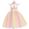 Picture of Girls Princess Unicorn Rainbow Tutu Dress-Yellow