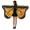 Picture of Woman's  Soft Fabric Butterfly Wings Cape - Gradient Red/Green