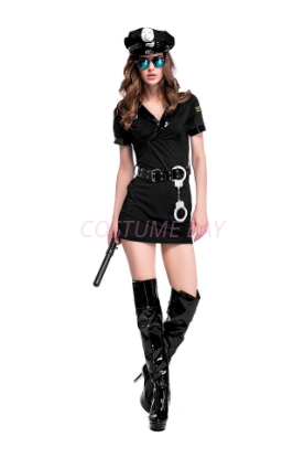 Picture of New Ladies Police Cop Party Fancy Dress Costume Outfit
