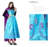 Picture of Womens Princess Frozen Anna Dress Costume with Cape