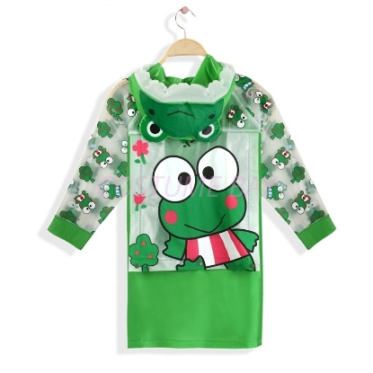 Picture of Children's Animal Waterproof Raincoat with Backpack Cover -Frog