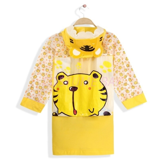Picture of Children's Animal Waterproof Raincoat with Backpack Cover -Tiger