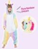 Picture of Kids Fluro Rainbow Unicorn Onesie