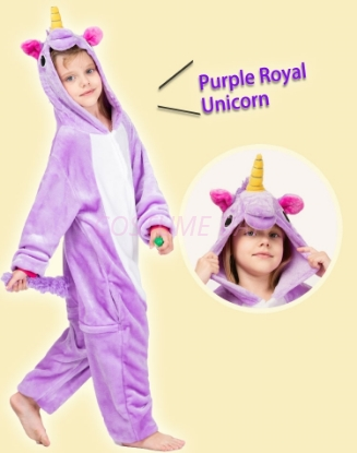 Picture of Kids Purple Royal Unicorn Onesie