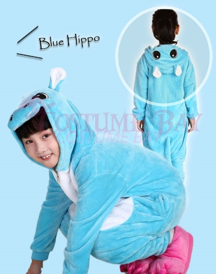 Picture of Kids Blue Hippo Onesie