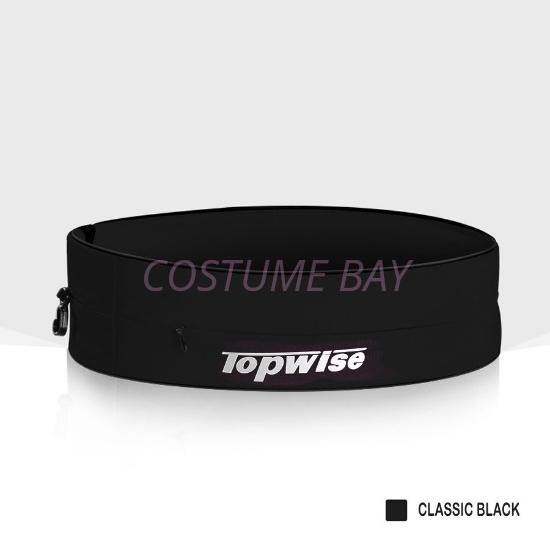 Picture of Sports Running Waist Belt with Zipper - Black