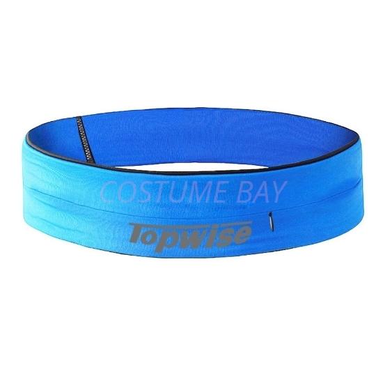 Picture of Sports Running Waist Belt with Zipper - Blue