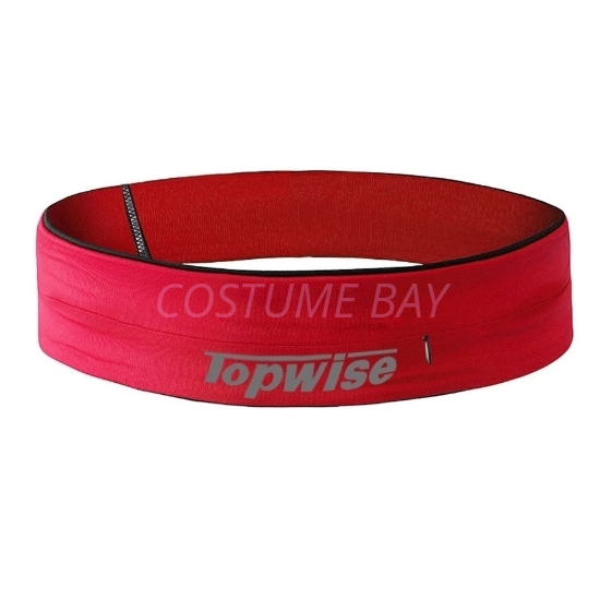 Picture of Sports Running Waist Belt with Zipper - Red