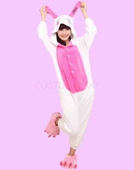 Picture of Kids White Love Rabbit Onesie