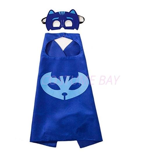 Picture of Kids PJ Cape &  Mask Set - Catboy Blue
