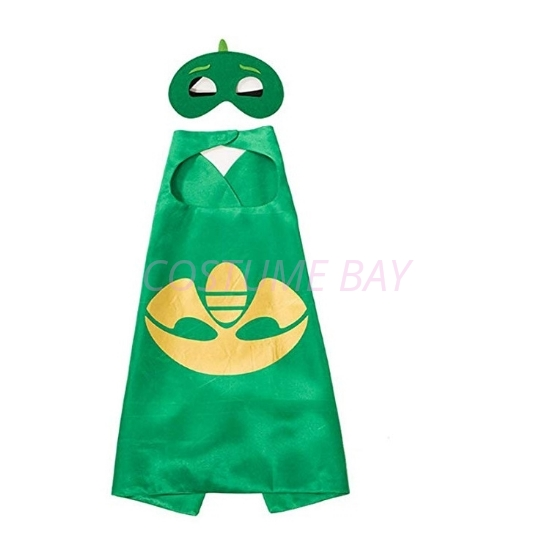 Picture of Kids PJ Cape &  Mask Set - Catboy Green