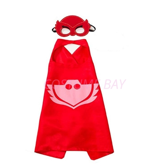 Picture of Kids PJ Cape & Mask Set - Catboy Red