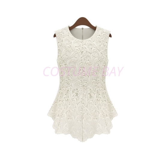 Picture of Sleeveless Floral Top-White