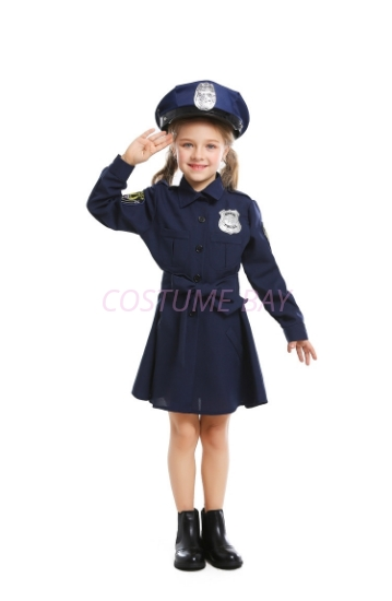 Picture of Girls Police costume