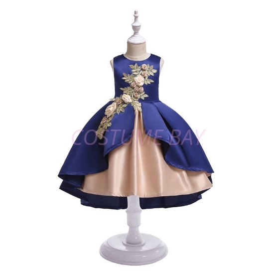 Picture of Girls Flower dress -Blue
