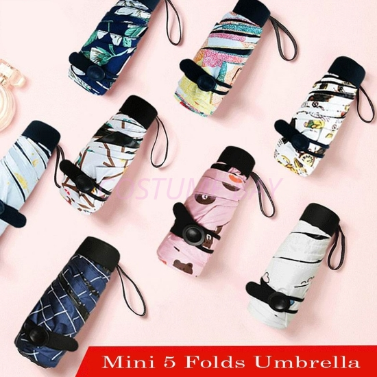 Picture of 5 Folds Anti-UV Sun Rain Mini Compact Umbrella