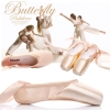 Picture of Deluxe Pink Ballet Dancing Shoes with optional Silica Toe Pads