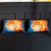 Picture of 3D Hot Fire Basket Ball Duvet Cover Set with Pillowcase