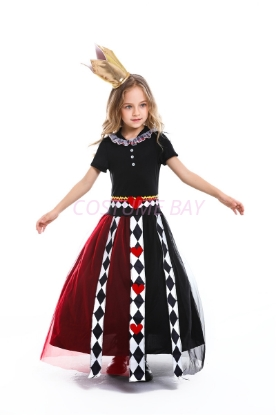 Picture of Girls Queen of Hearts Dress Book Week Costume