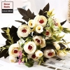 Picture of 2pcs Bouquet 8 Heads 5 Branches Artificial Roses Buds Flowers - Blue