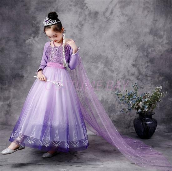 Picture of Frozen2 Elsa Purple Dress for BOOK WEEK
