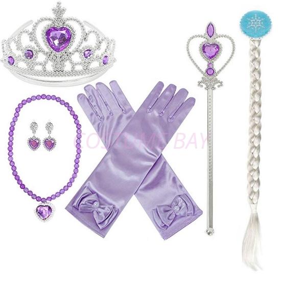 Picture of Princess Elsa Tiara Purple 6pc Set