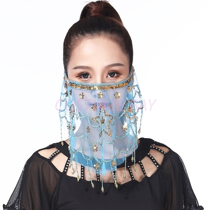 Picture of Dancing Face Veil - Light Blue