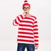 Picture of Red and White Stripes Wally Mens Costume Set