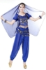 Picture of Women's Belly Dance Two Pieces Outfits -Dark Blue