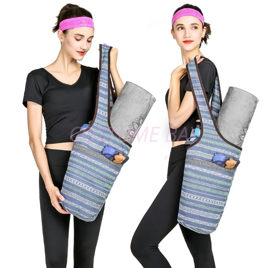 Picture of Canvas Sports Yoga Bag-Blue Stripe