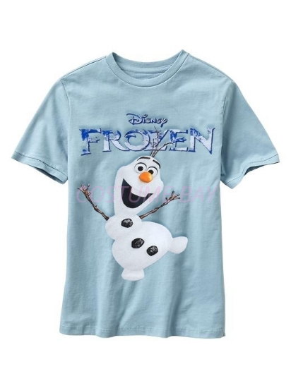 Picture of Kids Short Sleeves Frozen Olaf T-Shirt Blue