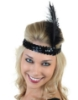 Picture of 1920's Charleston Flapper Headband with Feather - Red