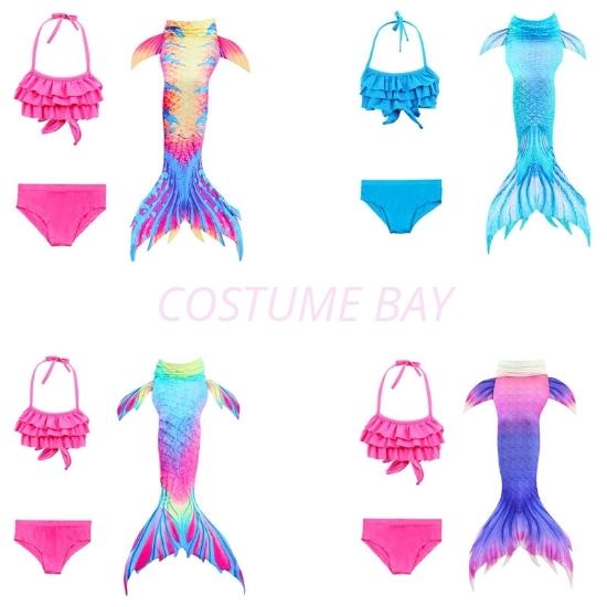 Picture of Girls 3pcs Set Mermaid Tail Swimming Costume