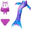 Picture of Kids Girls 3pcs Set Mermaid Tail Swimming Costume - BLUE