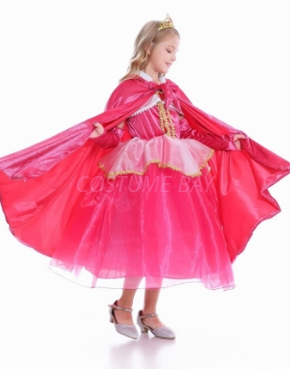Picture of Pink Sleeping Beauty Aurora Princess Hooded Cape for Book Week