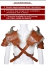 Picture of Medieval Knight Men Shoulder Armour With Horn Prop