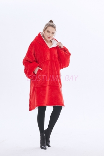 Picture of Oversized Winter Blanket Hoodie - Red