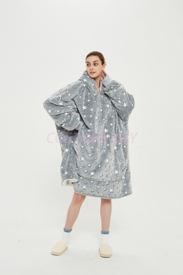 Picture of Oversized Winter Blanket Hoodie - Night Star