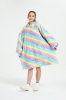 Picture of Oversized Winter Blanket Hoodie - Pink Spotty