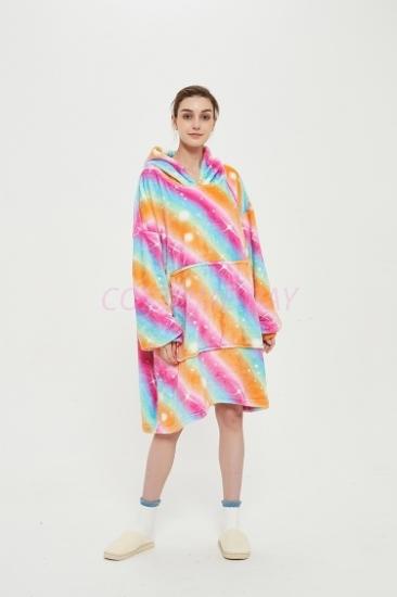 Picture of Oversized Winter Blanket Hoodie - Rainbow5