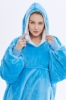 Picture of Oversized Winter Blanket Hoodie - Blue