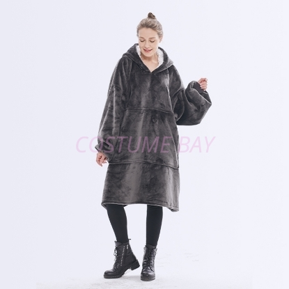 Picture of Oversized Winter Blanket Hoodie - Grey