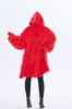 Picture of Oversized Winter Blanket Hoodie - Wine Red