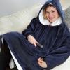 Picture of Sweatshirt Hoodie Blanket - Light Grey