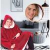 Picture of Sweatshirt Hoodie Blanket - Rose