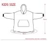 Picture of Kids Blanket Hoodie -Red