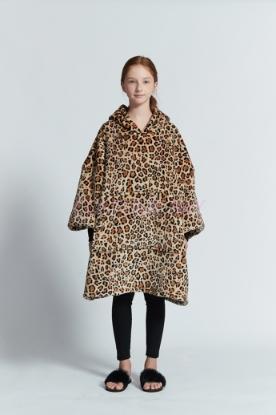 Picture of Delux Kids Blanket Hoodie - Leopard