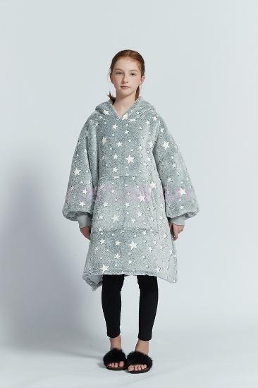 Picture of Delux Kids Blanket Hoodie - Night Star